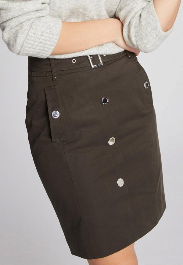 женская прямые юбка morgan, хаки