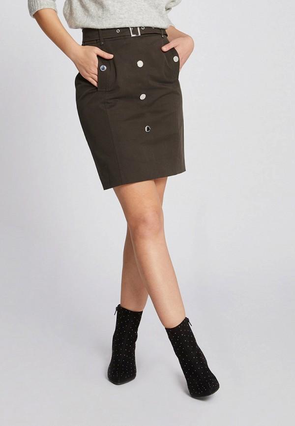 Фото 2 - женскую юбку Morgan цвета хаки