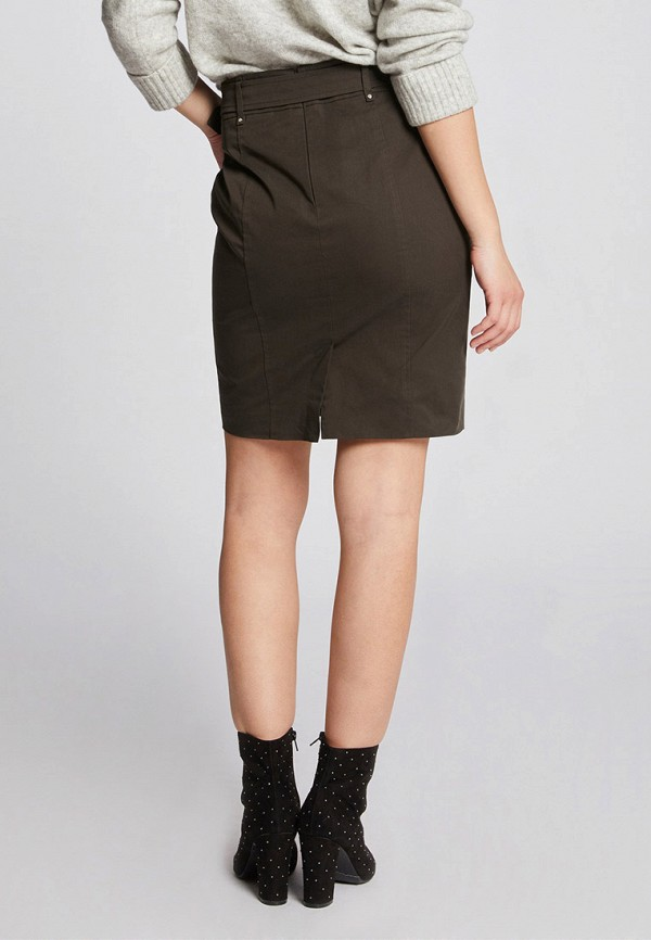 Фото 3 - женскую юбку Morgan цвета хаки