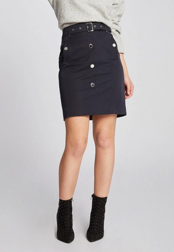женская прямые юбка morgan, синяя