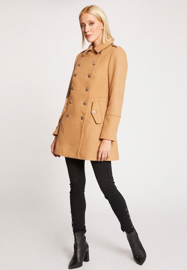 женское пальто morgan, бежевое