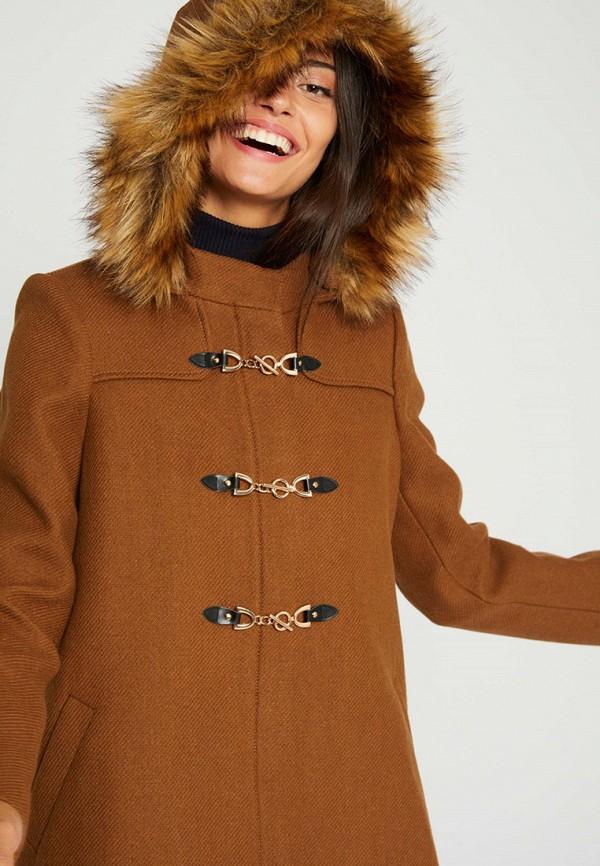 женское пальто morgan, коричневое