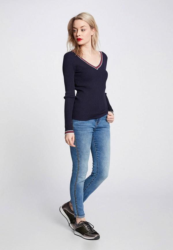 Фото 2 - женский пуловер Morgan синего цвета