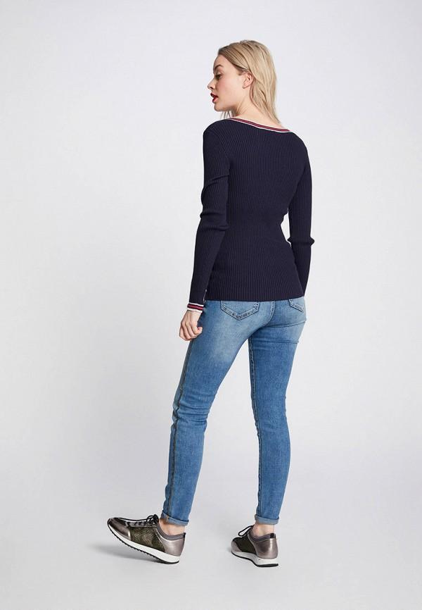 Фото 3 - женский пуловер Morgan синего цвета