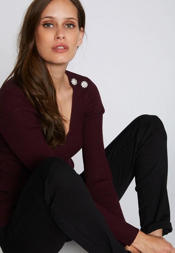 женский пуловер morgan, бордовый