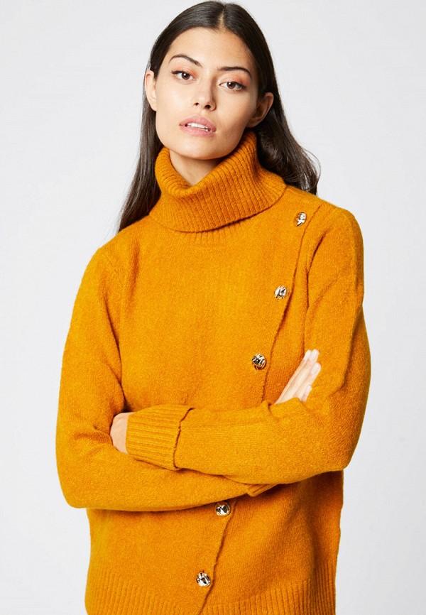 женский свитер morgan, желтый