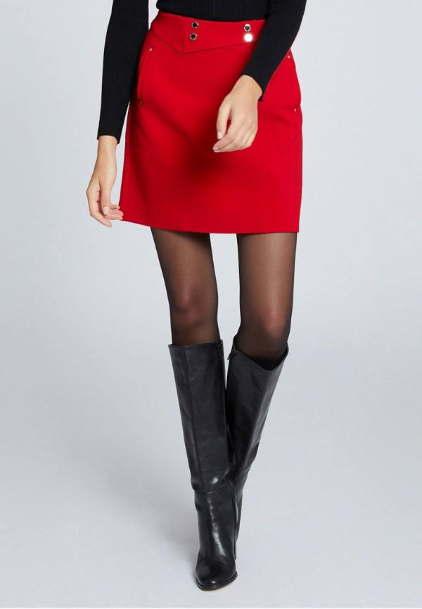 женская прямые юбка morgan, красная