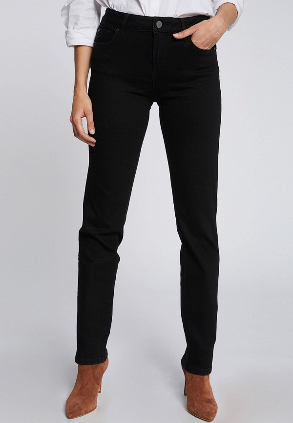 женские прямые джинсы morgan, черные