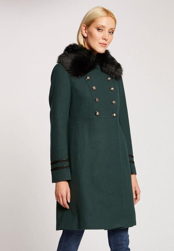 женское пальто morgan, зеленое