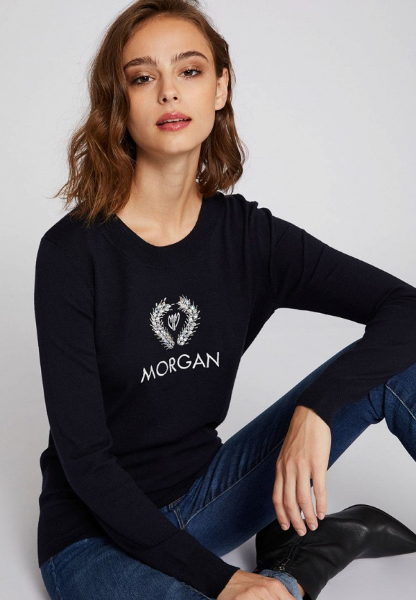 Купить Женский джемпер Morgan синего цвета