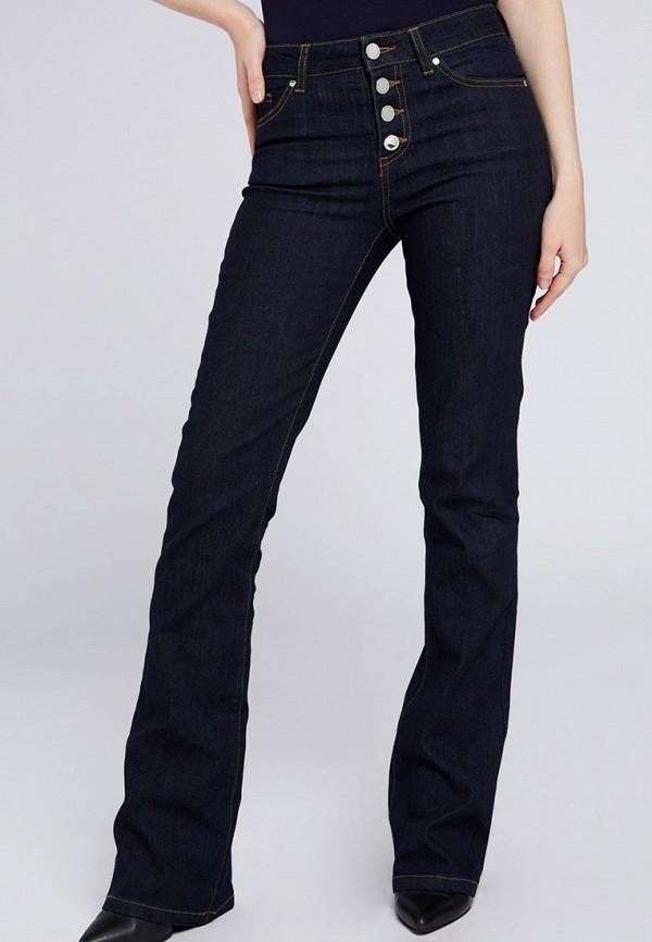 женские джинсы клеш morgan, синие