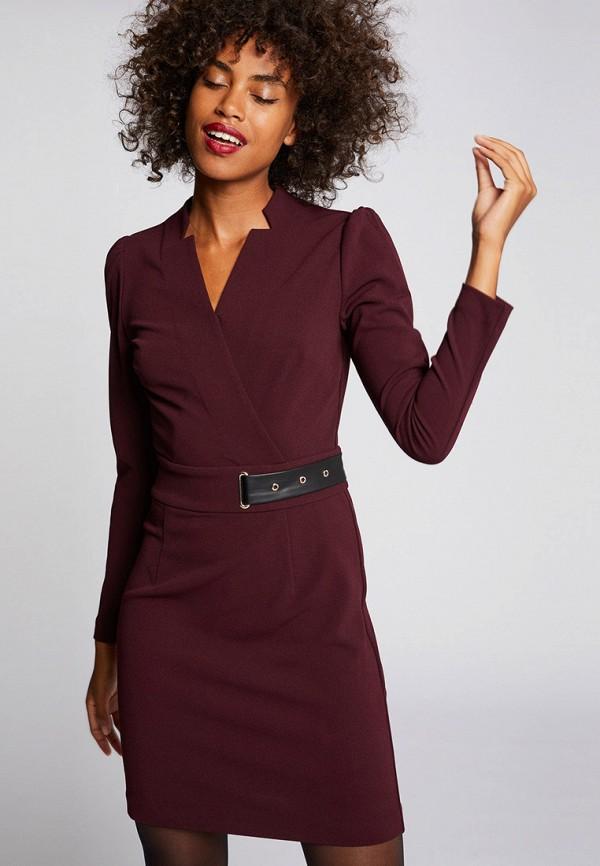 женское повседневные платье morgan, бордовое