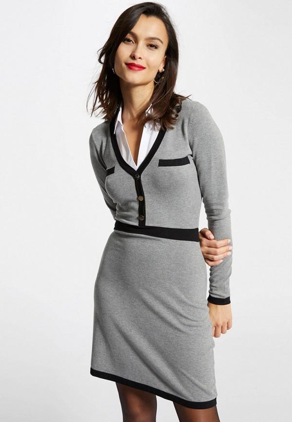 женское повседневные платье morgan, серое