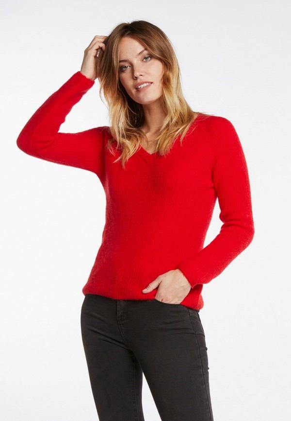 женский пуловер morgan, красный