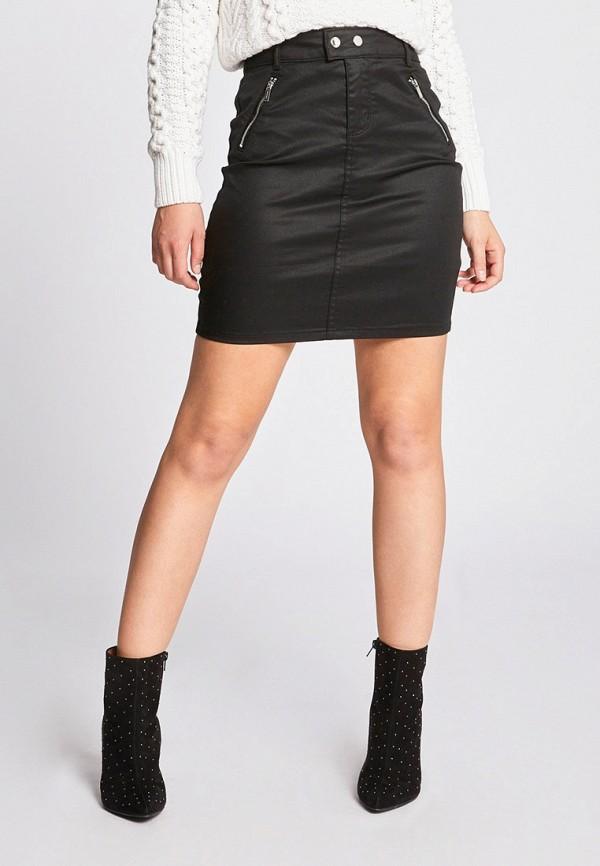 женская прямые юбка morgan, черная