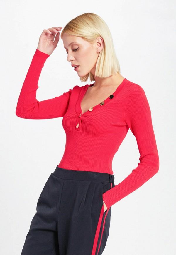 женский пуловер morgan, розовый