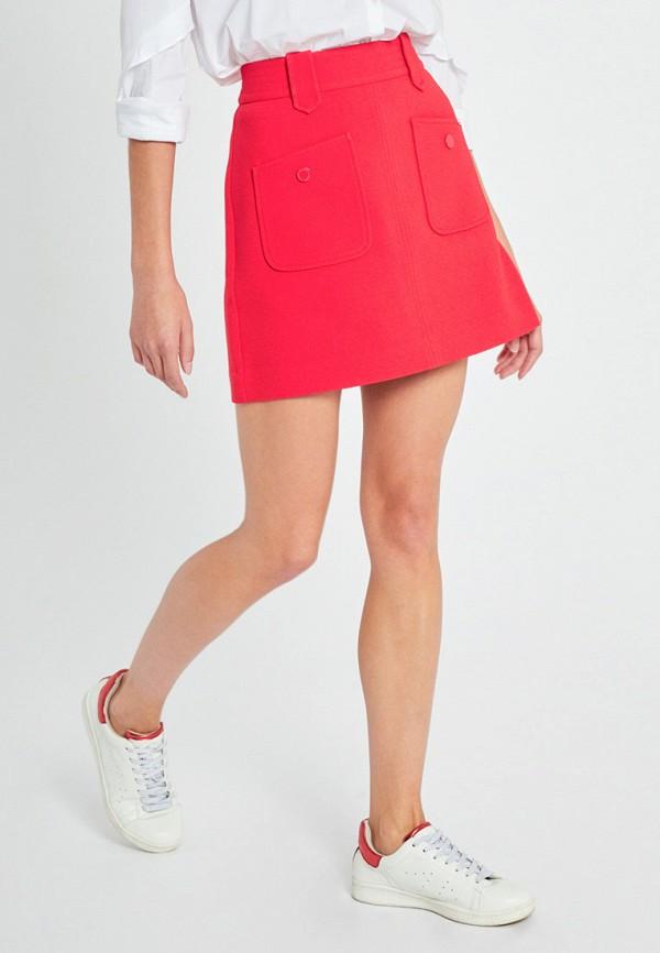 женская юбка morgan, розовая