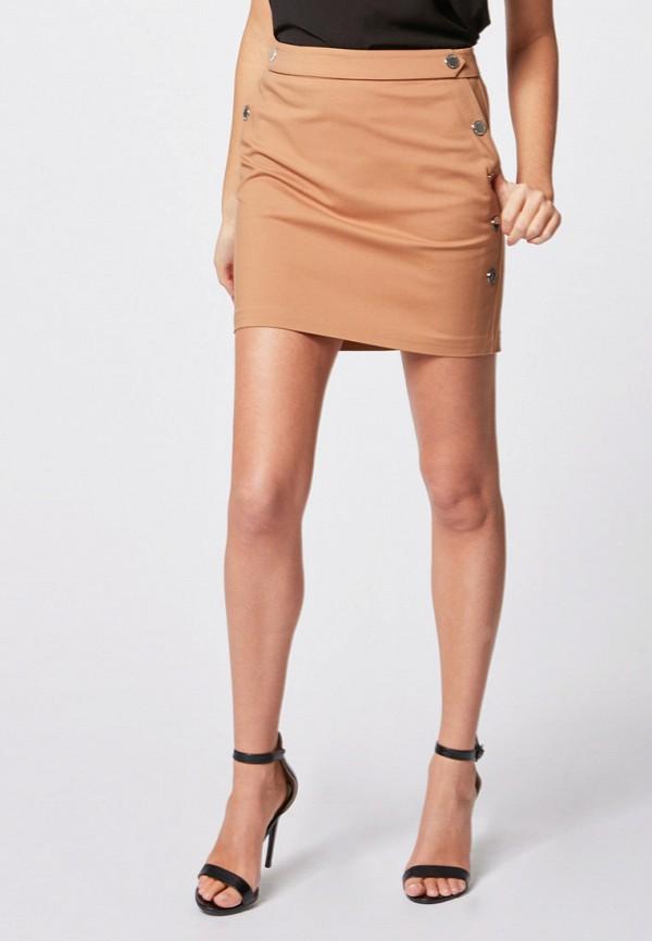 женская прямые юбка morgan, бежевая