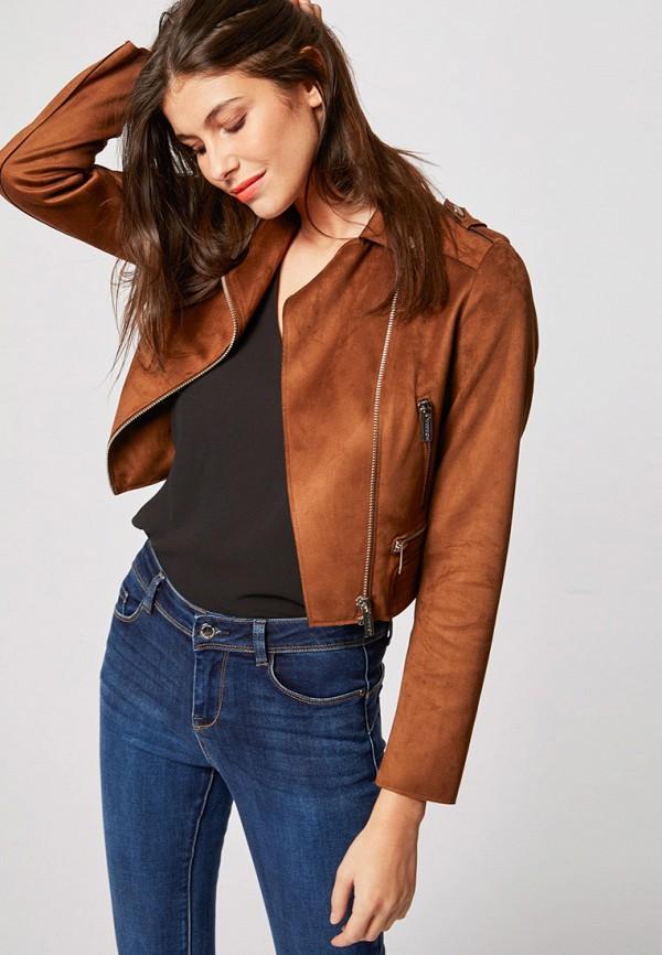 женская куртка morgan, коричневая