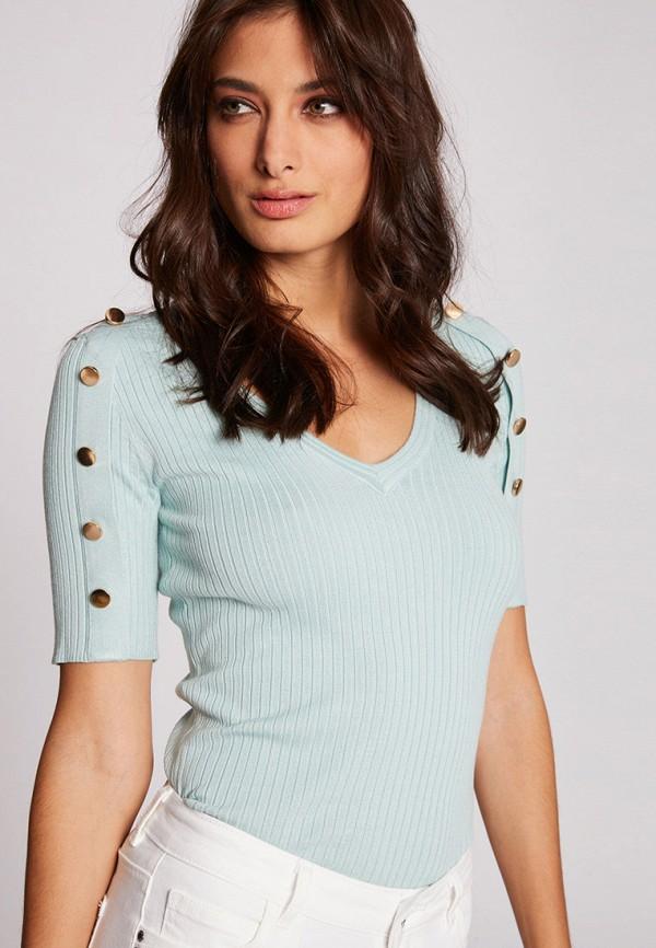 женский пуловер morgan, бирюзовый