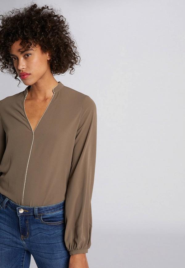 женская блузка morgan, коричневая