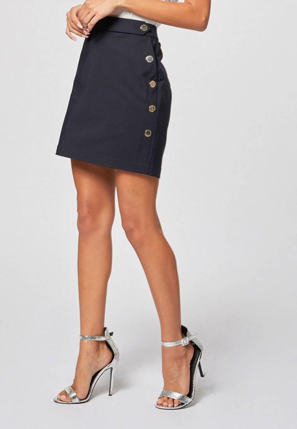 женская зауженные юбка morgan, синяя