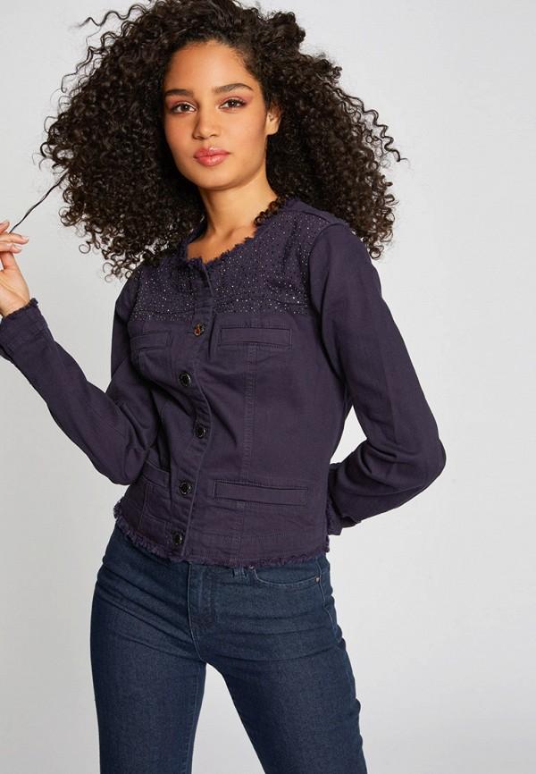женская джинсовые куртка morgan, фиолетовая