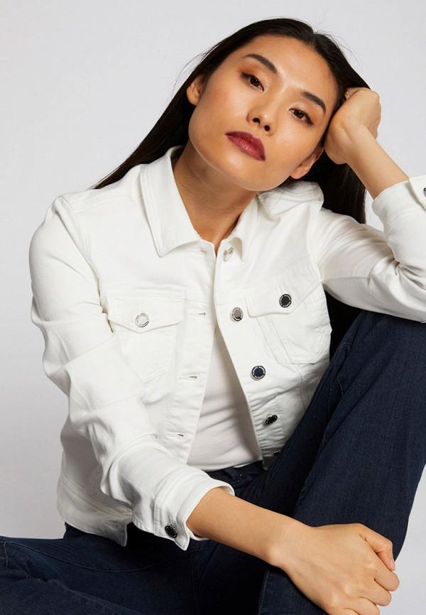 женская джинсовые куртка morgan, белая