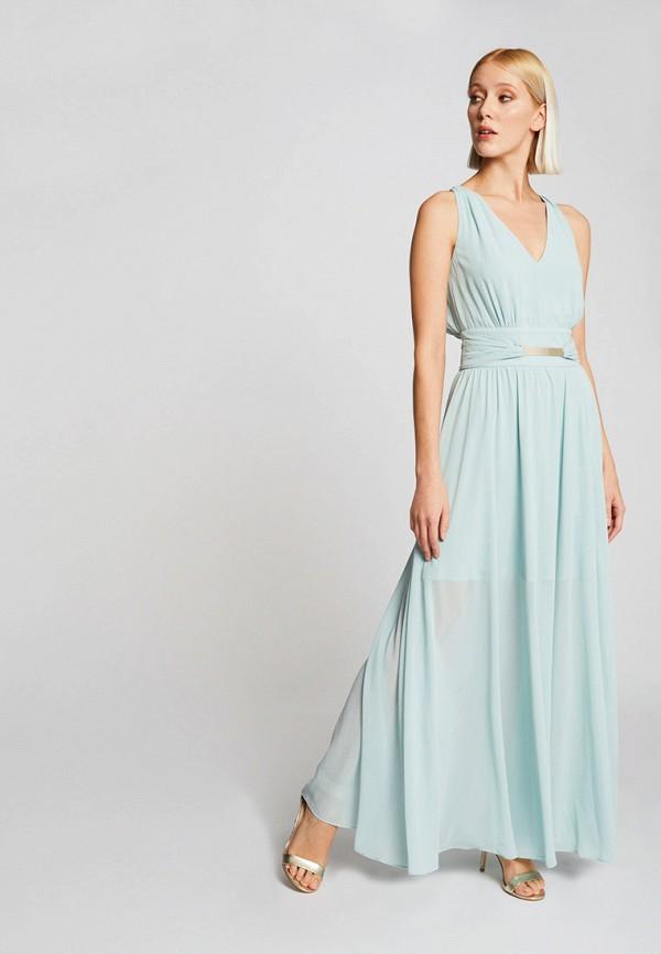 женское вечерние платье morgan, голубое