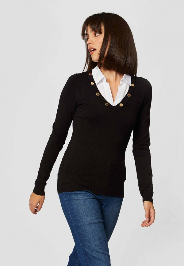 женский пуловер morgan, черный