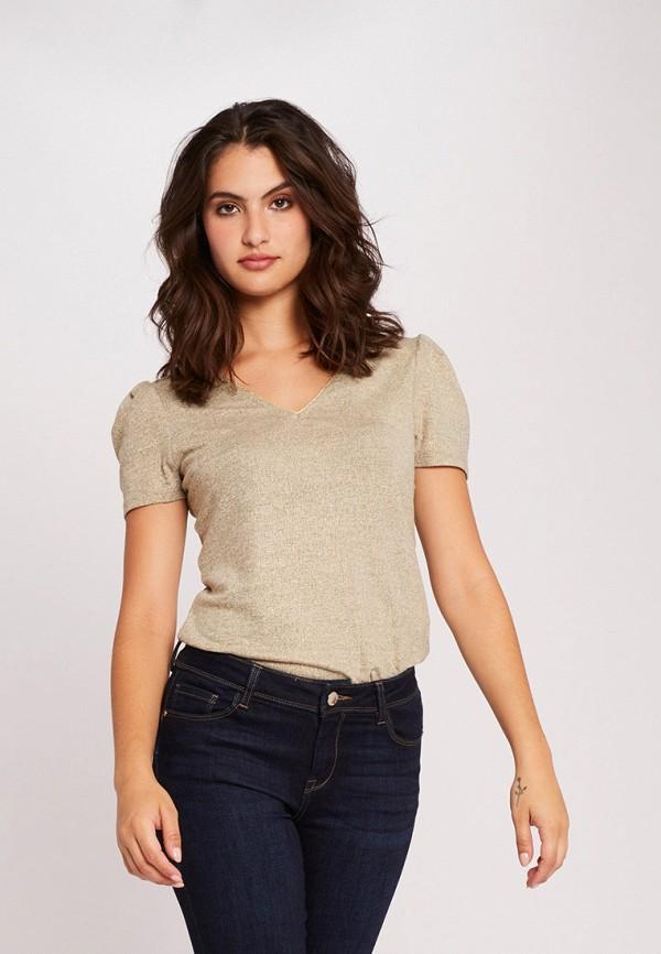 женская футболка morgan, бежевая