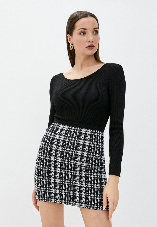 женское платье-футляр morgan, черное