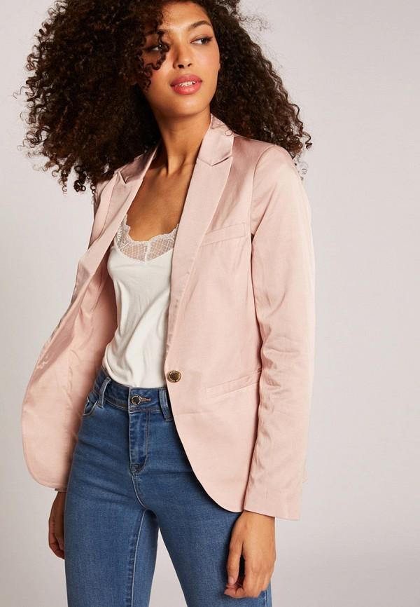 женский пиджак morgan, розовый