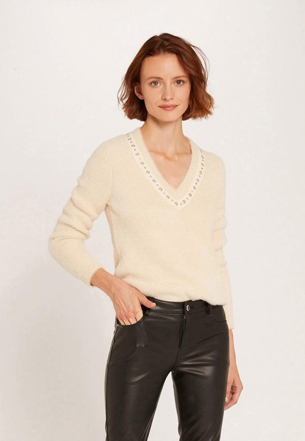 женский пуловер morgan, бежевый