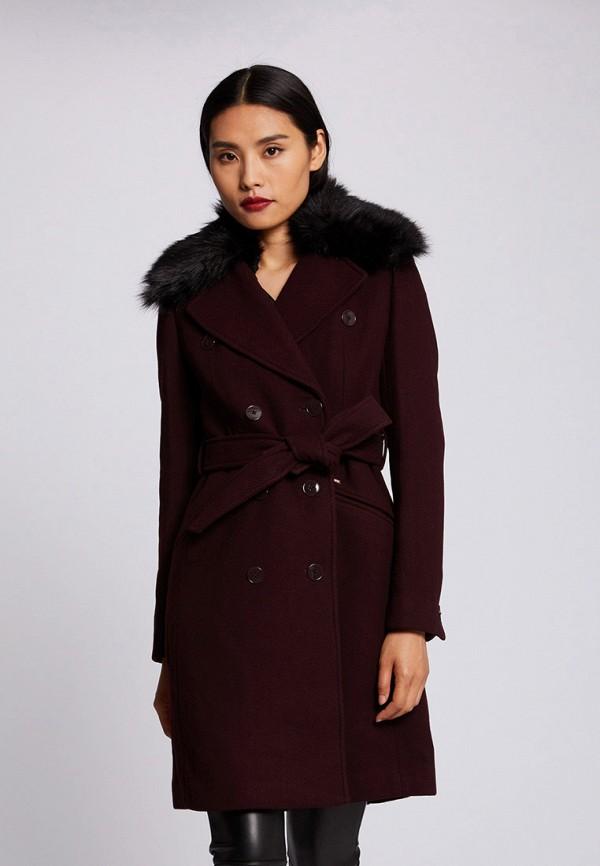 женское пальто morgan, бордовое