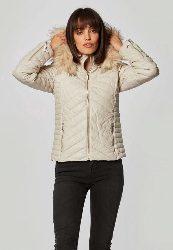 женская куртка morgan, бежевая