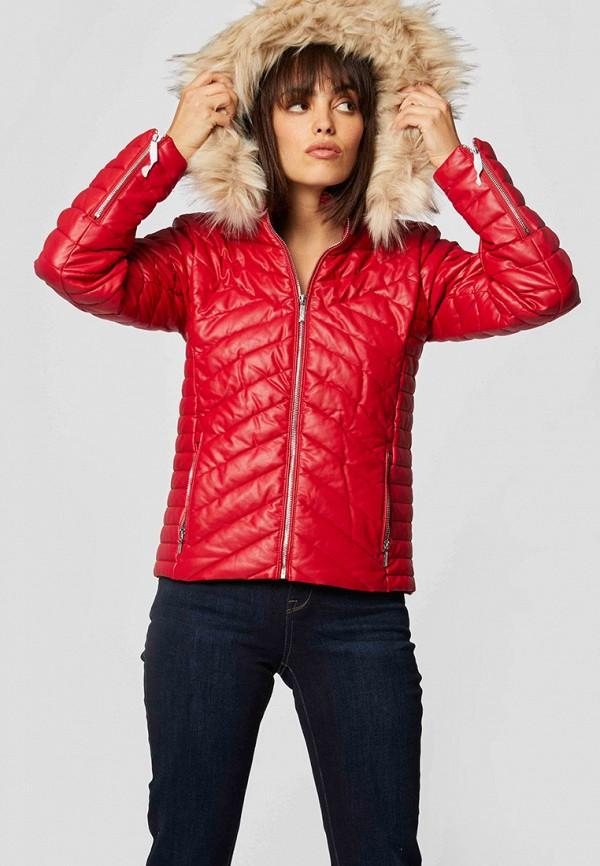 женская куртка morgan, красная