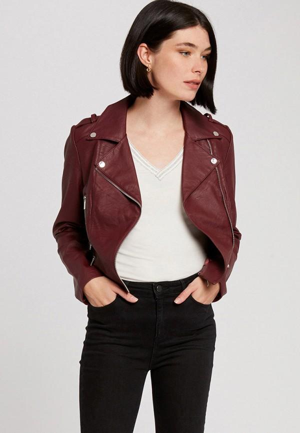 женская куртка morgan, бордовая