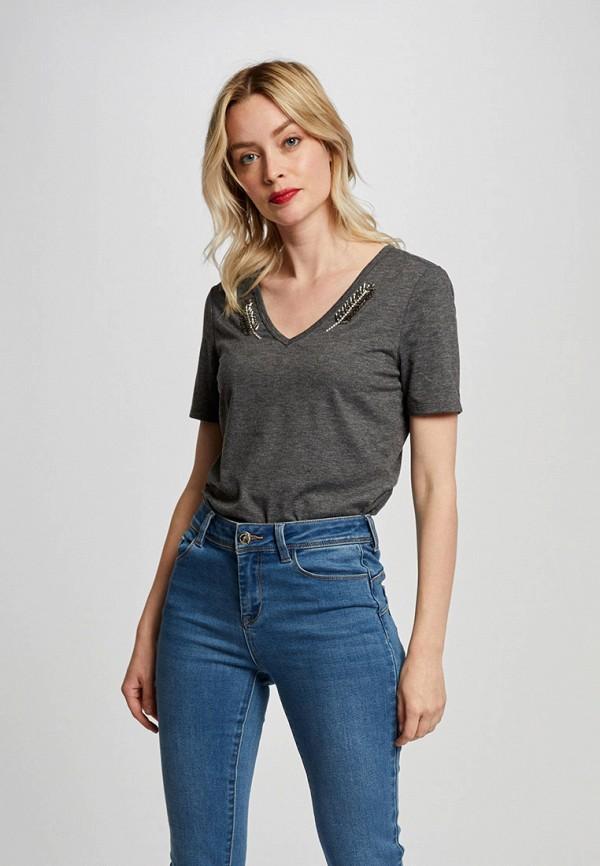 женская футболка morgan, серая