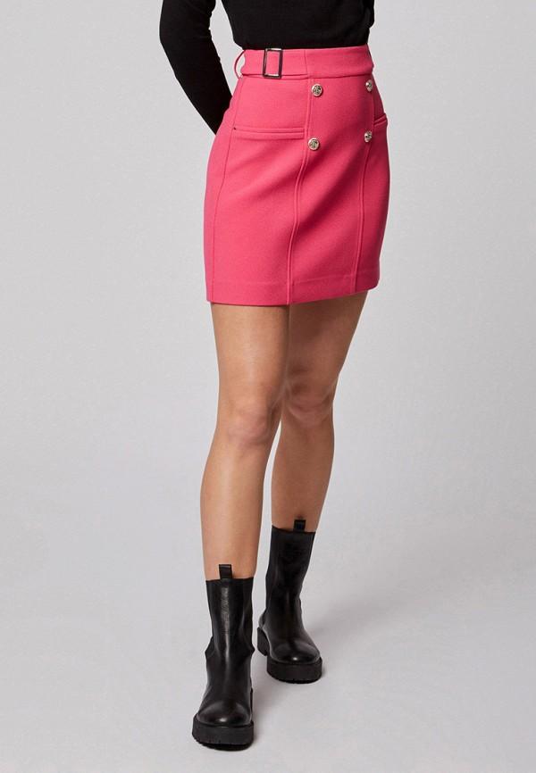 женская прямые юбка morgan, розовая