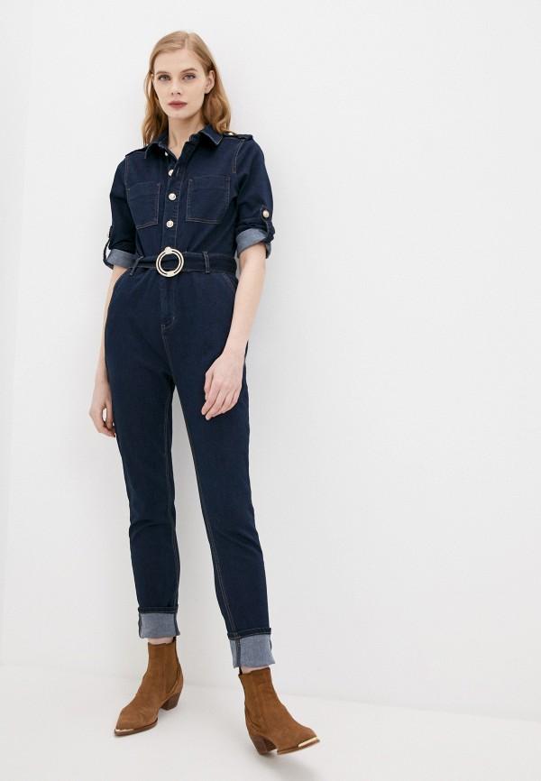 женский джинсовые комбинезон morgan, синий