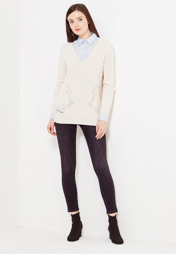 Фото 2 - женский пуловер Morgan бежевого цвета