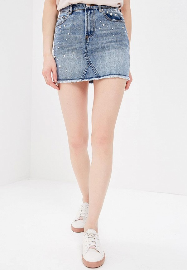 Юбка джинсовая Morgan Morgan MO012EWZIM68 юбка morgan morgan mo012ewbmvq4