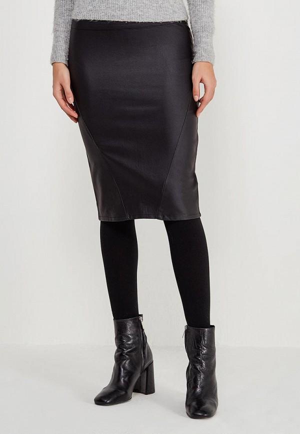 женская зауженные юбка morgan, черная