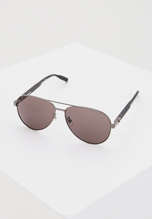 мужские солнцезащитные очки montblanc, серебряные