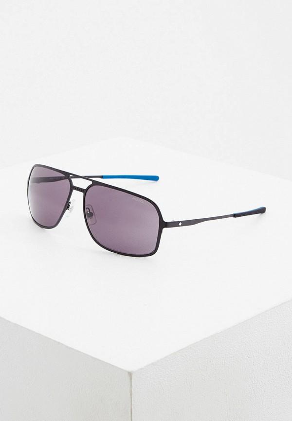 мужские авиаторы солнцезащитные очки montblanc, черные