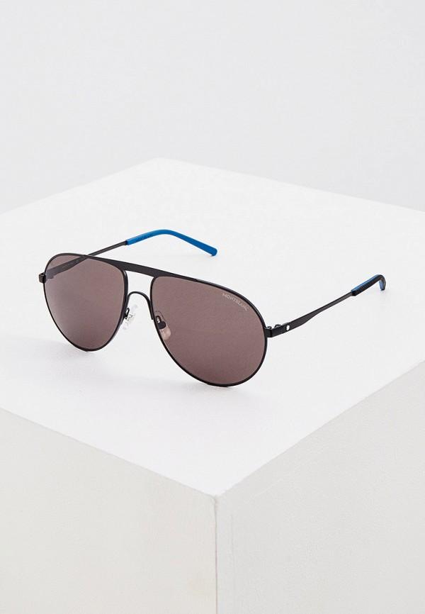 мужские солнцезащитные очки montblanc, черные
