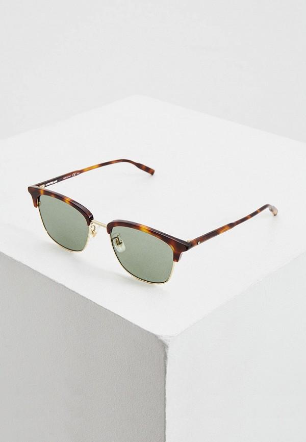 мужские солнцезащитные очки montblanc, коричневые