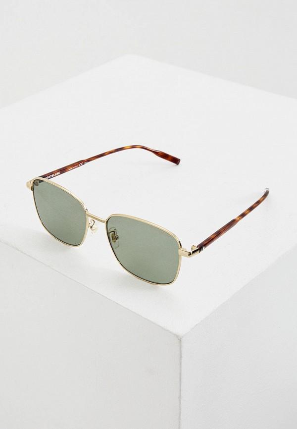 мужские солнцезащитные очки montblanc, золотые