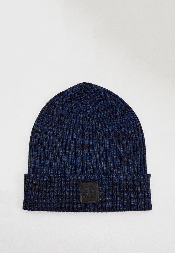 мужская шапка moose knuckles, синяя